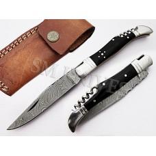 Handmade Damascus  Laguiole  Knife (SMF35)