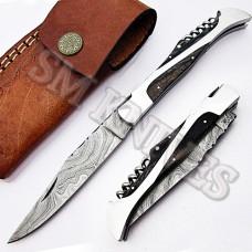 Handmade Damascus Laguiole Knife (SMF14)