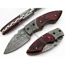 Handmade Folding Knife With Stag Horn Handle Grip(SMF61)