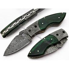 Beautiful Damascus Folding Knife (SMF62)
