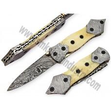 Stunning Handmade Damascus Folding Knife(SMF08)