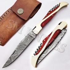 Custom Made Blue Laguiole Folding Pocket Knife(SMF16)