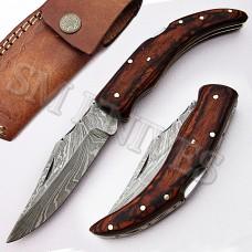 Custom Handmade Damascus Folding Pocket Knife(SMF19)